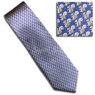 Squirrel Pattern Tie (navy)