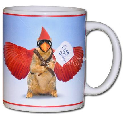 Feed the Cardinal Squirrel Mug | Funny Rally Squirrel