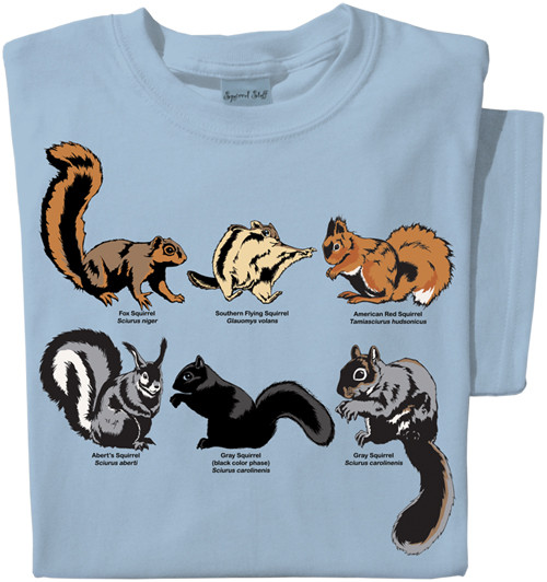 Field Guide to Squirrels T-shirt | Educational Squirrel Tee