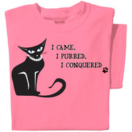 I Came, I Purred T-shirt | pink tee | Funny Cat Tee