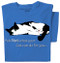 Ask Not Cat T-shirt (blue)