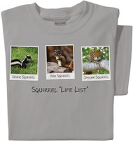 "Squirrel ""Life List"" T-shirt 