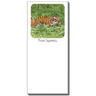 Tiger Squirrel Notepad | Funny Squirrel Magnetic Shopping List
