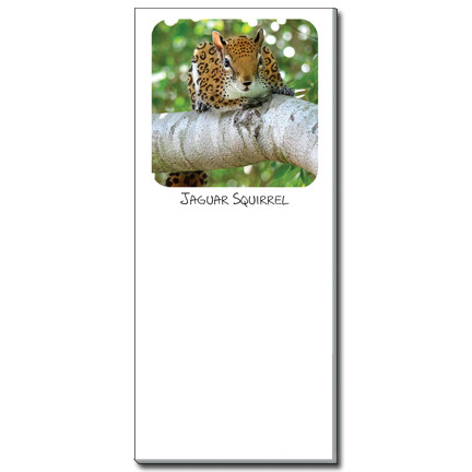 Jaguar Squirrel Notepad | Funny Squirrel Magnetic Shopping List