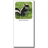 Skunk Squirrel Notepad | Funny Squirrel Magnetic Shopping List