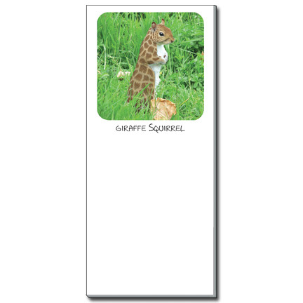 Giraffe Squirrel Notepad   Funny Squirrel Magnetic Shopping List