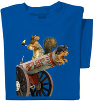 Bird Seed or Bust | Funny Squirrel Cannon T-shirt