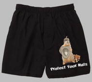 Black Cotton Boxer | Protect Your Nuts | sizes M - XL
