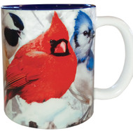 Feeder Favorites Bird Mug | Blue Jay, Woodpecker, Bluebird, Nuthatch, Chickadee, Cardinal | 11 oz. | Jim Rathert