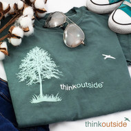 Pure Cotton Think Outside Tree T-shirt | ThinkOutside