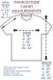ThinkOutside Unisex T-shirt Size Chart