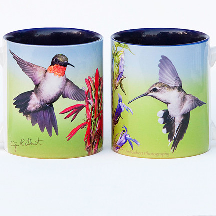 Hummingbird Pair Mug | Jim Rathert Photography | Bird Mug