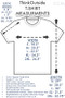 Pure Cotton Dandelion | ThinkOutside Unisex T-shirt Size Chart