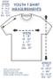 Youth T-shirt Sizing Chart