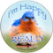 I'm happy really sandstone ceramic coaster | Bluebird Coaster | Front