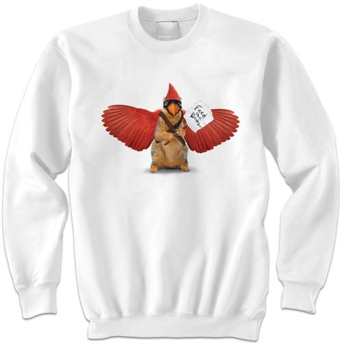 Feed the Cardinal Sweatshirt | Funny Squirrel Sweatshirt