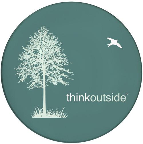 Think Outside Tree Sandstone Ceramic Coaster   Front