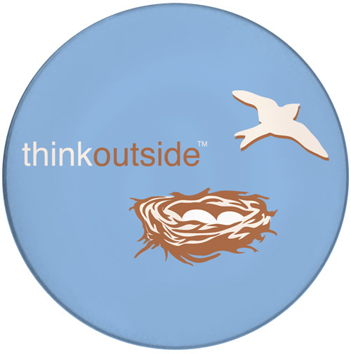 ThinkOutside Nest Sandstone Ceramic Coaster | Front