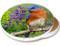 Summer Bluebird Sandstone Ceramic Coaster  | Image shows front and cork back