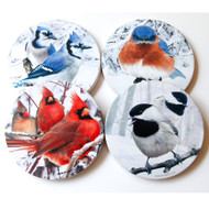 Winter Bird Sandstone Coaster Collection | Set of 4