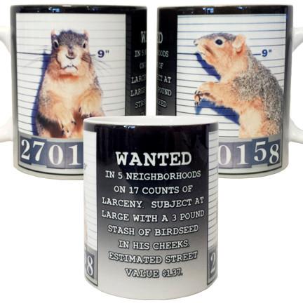 Mugshot Squirrel Mug | Funny Squirrel Mug