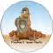 Protect Your Nuts Sandstone Ceramic Coaster | Front