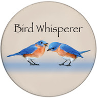 Bird Whisperer Ceramic Coaster | Front