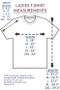 Ladies ThinkOutside T-shirt Size Chart
