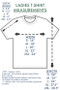 Pure Cotton Monarch | ThinkOutside Ladies T-shirt Size Chart