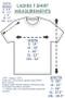 Pure Cotton Monarch | ThinkOutside Ladies T-shirt Size Chart
