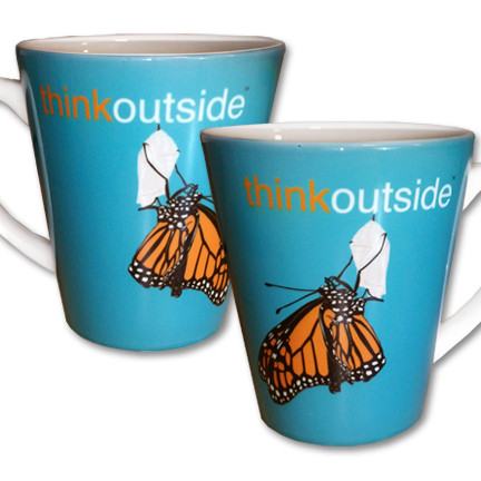 Monarch Butterfly Latte Mug | Think Outside | 12 oz. ceramic