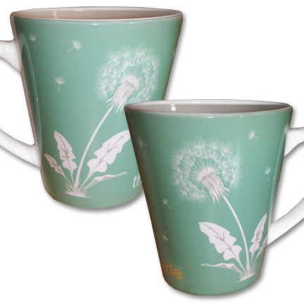Dandelion Latte Mug | Think Outside | 12 oz. ceramic