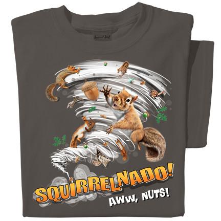 Squirrelnado! Aww nuts! T-shirt   Funny Squirrel T-shirt