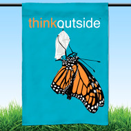 ThinkOutside Monarch Garden Flag