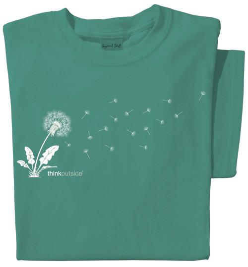 Pure Cotton Dandelion Ladies T-shirt | ThinkOutside