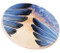 Bluebird Feather Sandstone Ceramic Coaster | side view