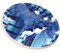 Blue Jay Feather Sandstone Ceramic Coaster | side view