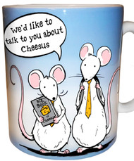 We'd Like to Talk to You About Cheesus Mug | Funny Mouse Mug
