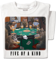 Poker Squirrels T-shirt | Funny Squirrel T-shirt | White Tee