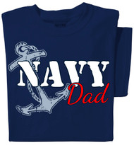 Navy Dad T-shirt | Navy Blue Tee