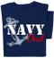 Navy Dad T-shirt | Navy Blue Tee