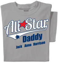 Allstar Daddy Personalized T-shirt
