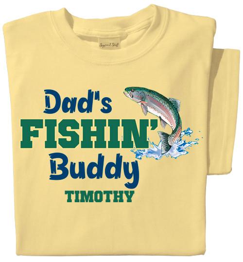 Dad's Fishin' Buddy Personalized Toddler T-shirt