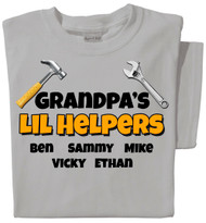 Lil Helpers Personalized (adult) T-shirt