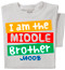I'm the Middle Brother Toddler & Youth T-shirt