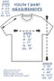 Youth T-shirt Sizing Chart