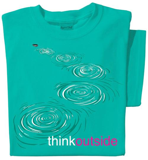 Organic Cotton Stone Skip Ladies T-shirt | ThinkOutside t