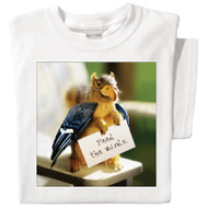 Feed the Birds White T-shirt | Funny Squirrel Tee