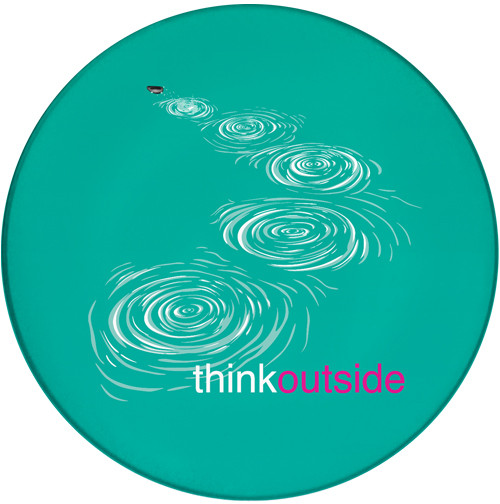 ThinkOutside Skipping Stones Sandstone Ceramic Coaster | Front