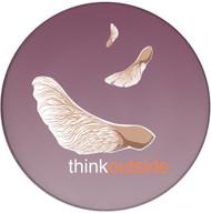 ThinkOutside Maple Seeds Ceramic Coaster | Helicopter Seeds | Front